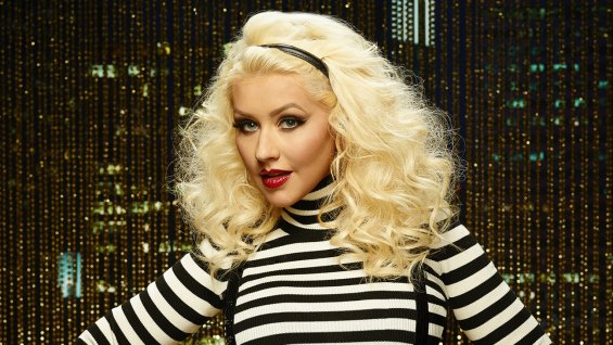 Christina Aguilera en el All-Star Game de la NBA