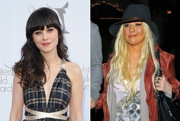 Zooey-Deschanel-y-Christina-Aguilera