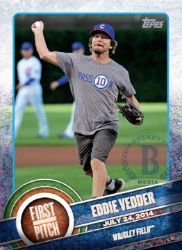 eddie vedder tarjetas beisbol topps first pitch 2015