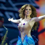 Mexican singer Gloria Trevi performs during the 54nd Vina del Mar International Song Festival on March 01, 2013 in Vina del Mar,Chile. AFP PHOTO/MARTIN BERNETTI        (Photo credit should read MARTIN BERNETTI/AFP/Getty Images)