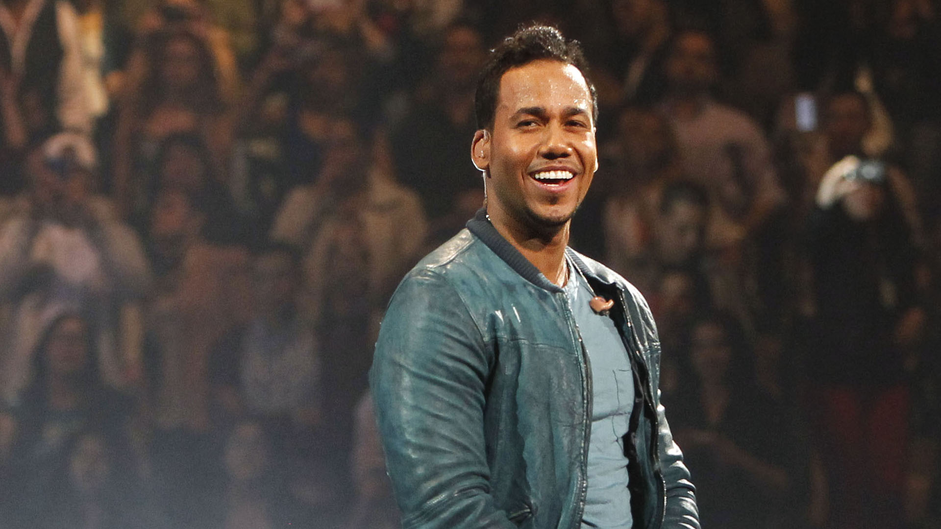 Romeo Santos performs during a concert at Madison Square Garden, Friday, Feb. 24, 2012 in New York. (AP Photo/Jason DeCrow)