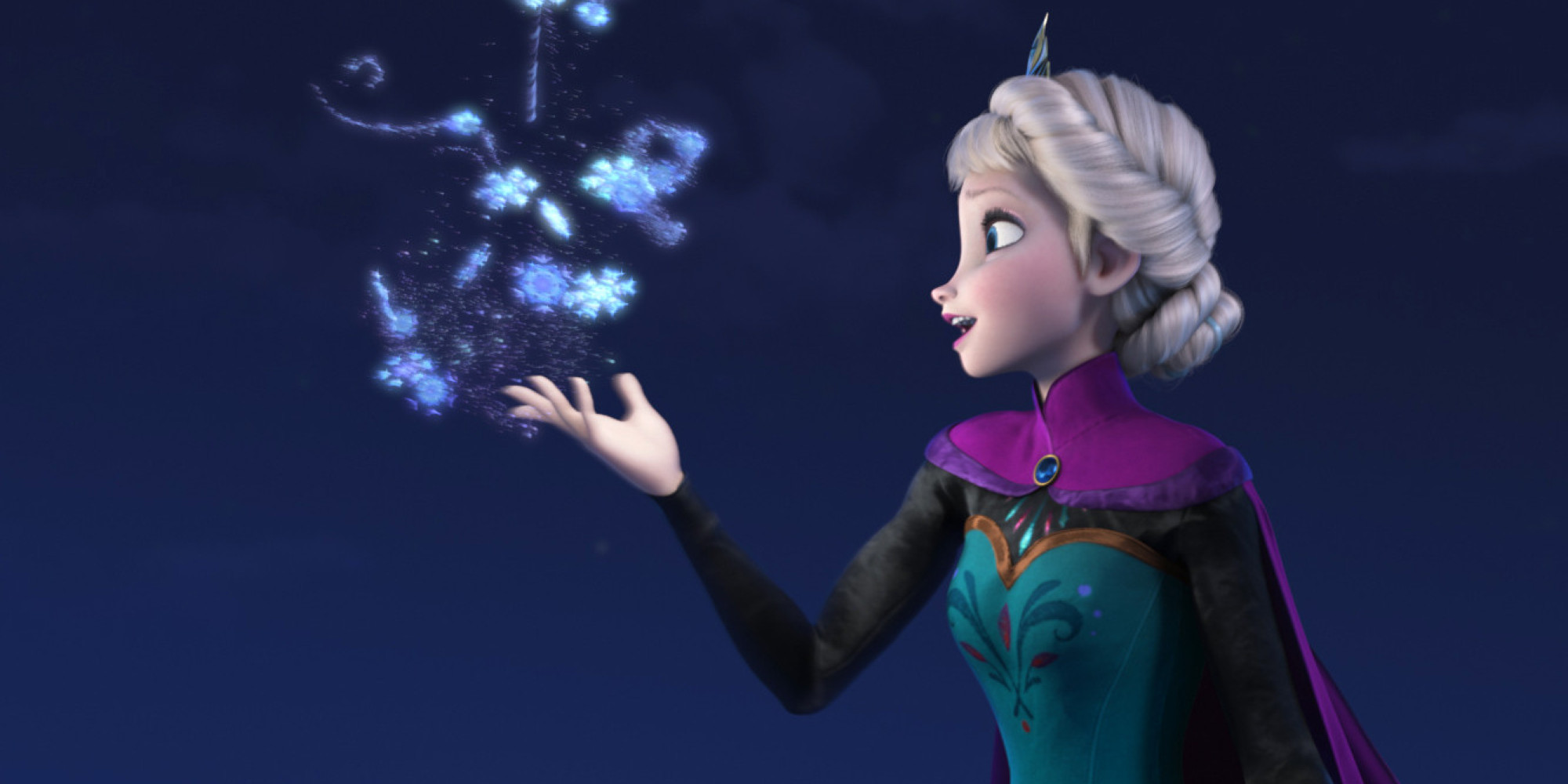 """This image released by Disney shows Elsa the Snow Queen, voiced by Idina Menzel, in a scene from the animated feature """"Frozen."""" Disney's animated adventure, """"Frozen,"""" took the No. 2 position, earning $28.9 million over the weekend and $248.4 million domestically after six weeks at the multiplex. """"'Frozen' probably had the best release date of the year because they positioned themselves to completely dominate the family film marketplace over the holidays,"""" said box-office analyst Paul Dergarabedian of Rentrak. """"To be No. 2 in its sixth week is a total reflection of that."""" (AP Photo/Disney,File)"""