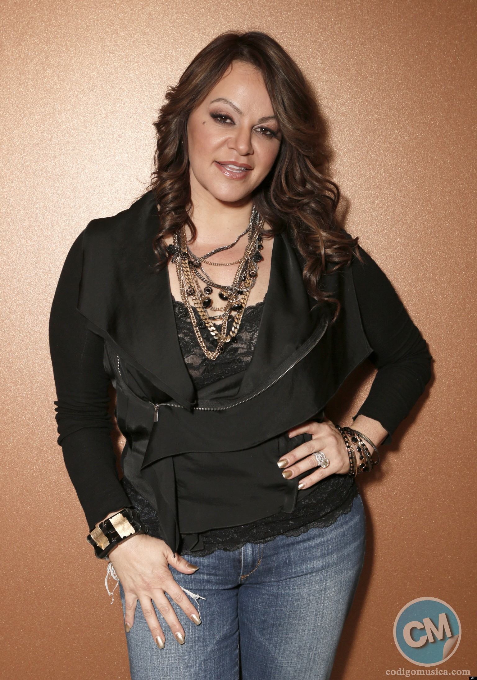 Jenni Rivera attends a press conference on Friday, Aug. 24, 2012, in Woodland Hills, California. (Photo by Todd Williamson/Invision/AP)
