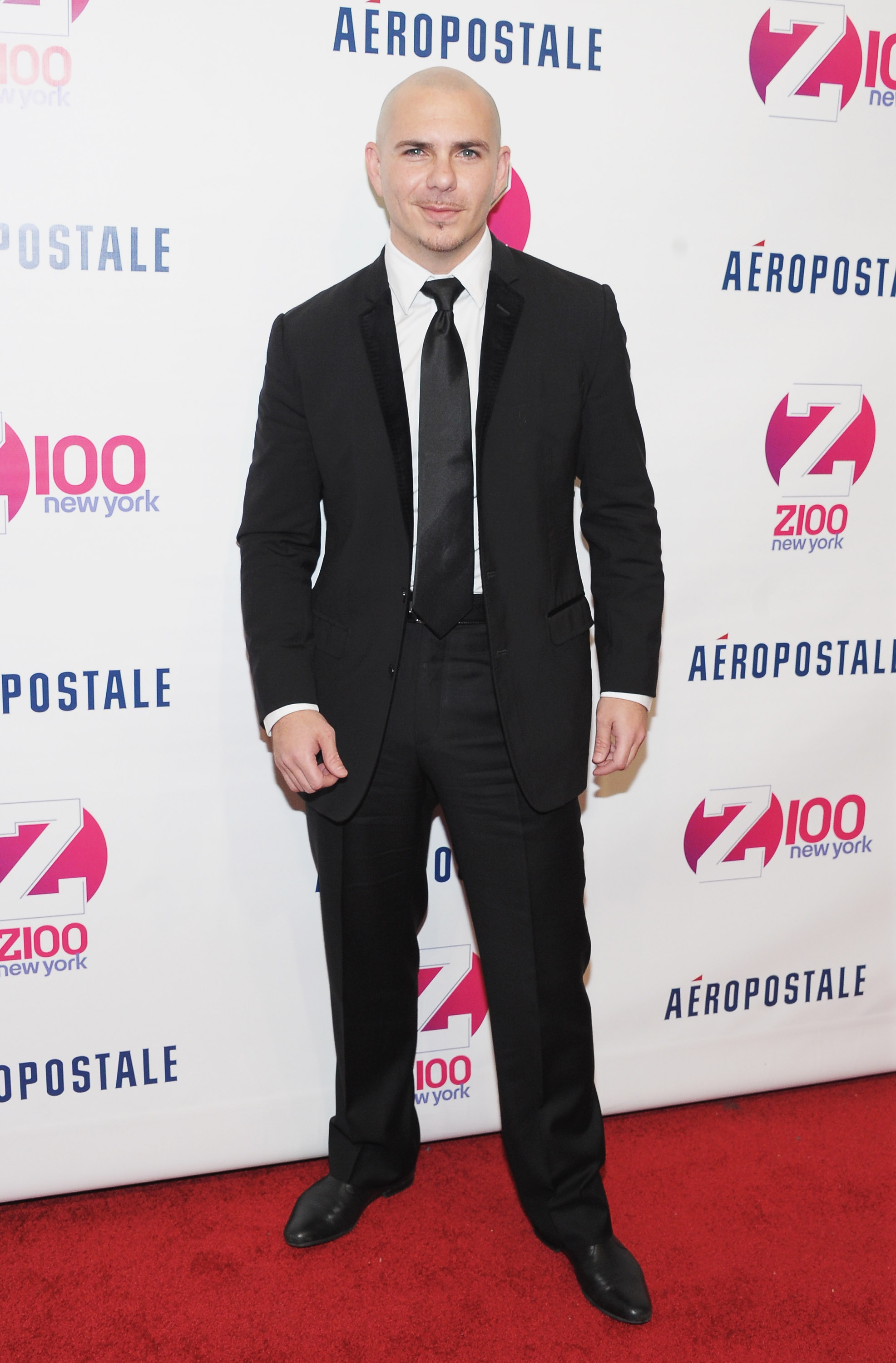 NEW YORK, NY - DECEMBER 09:  Singer Pitbull attends Z100's Jingle Ball 2011, presented by Aeropostale Madison Square Garden on December 9, 2011 in New York City.  (Photo by Michael Loccisano/Getty Images)