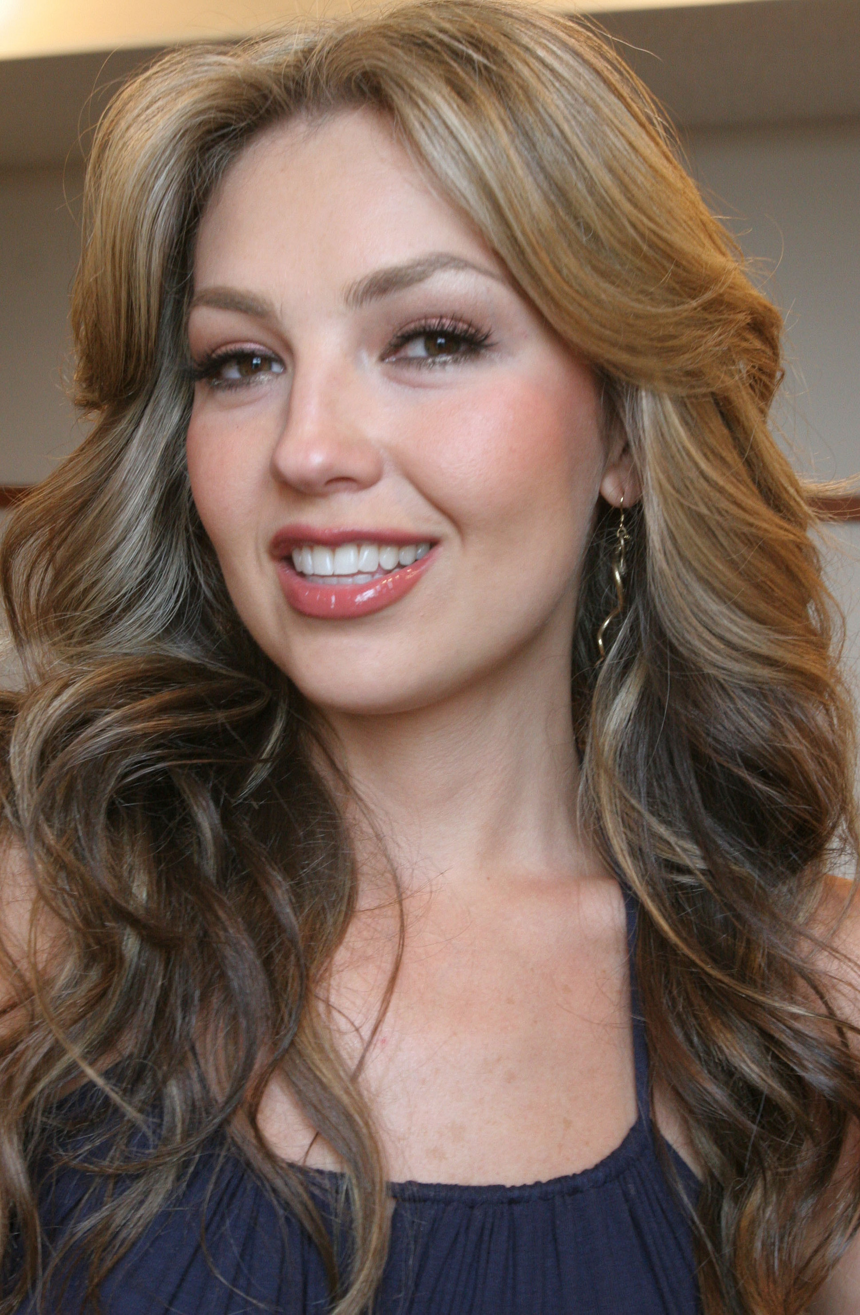 """Thalia poses for a photograph Tuesday, June 6, 2006, in New York.  Her new album """"El sexto sentido RE+LOADED"""" is being released today.  (AP Photo/Tina Fineberg)"""